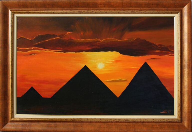 Piramisok alkonyatban